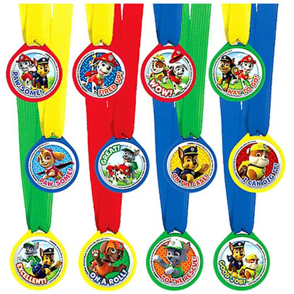 Award Medals   Favors (12ct) By Paw Patrol by