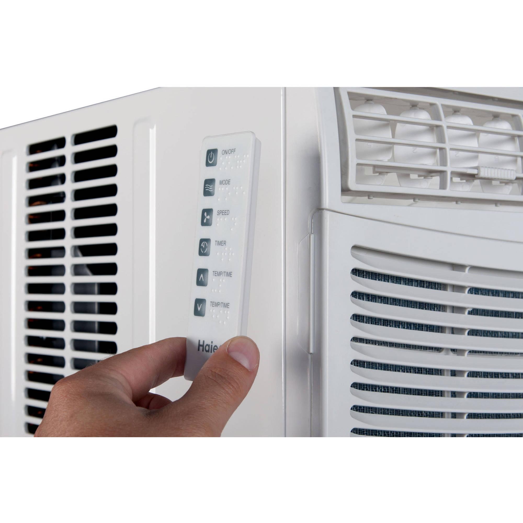 Haier HWE08XCR-LD 8,000 BTU 11.2 Ceer Electronic Control Air Conditioner -  Walmart.com