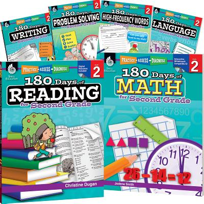 180 Days of Practice: 180 Days of Second Grade Practice, 6-Book Set (Other)
