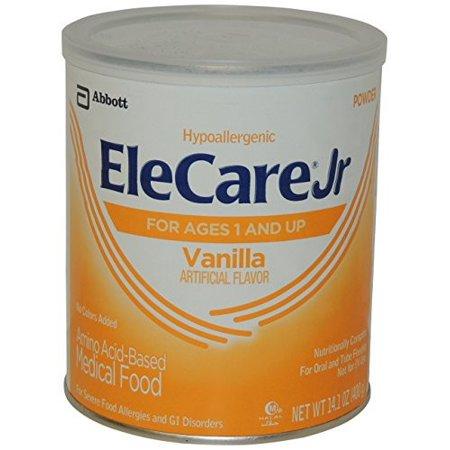 Elecare Junior Toddler Nutritionally Complete Amino Acid-Based Medical Food, Powder, Vanilla, 14.1 Ounces