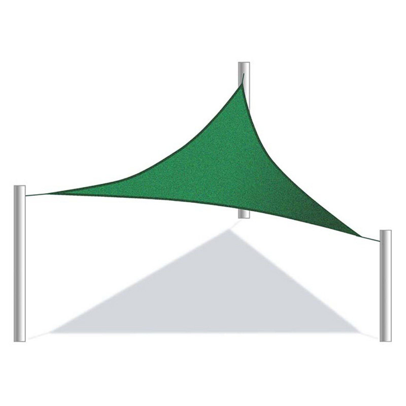 aleko 16x16x16 foot triangular sun sail shade net uv block fabric patio outdoor canopy sun shelter