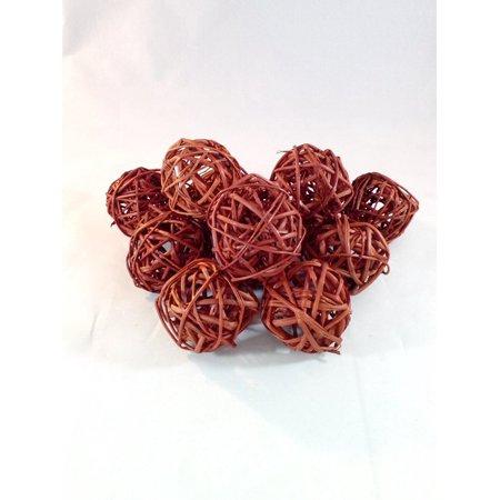 Decorative Spheres Twig Brown Balls Rattan Ball Vase Filler Ornament ()