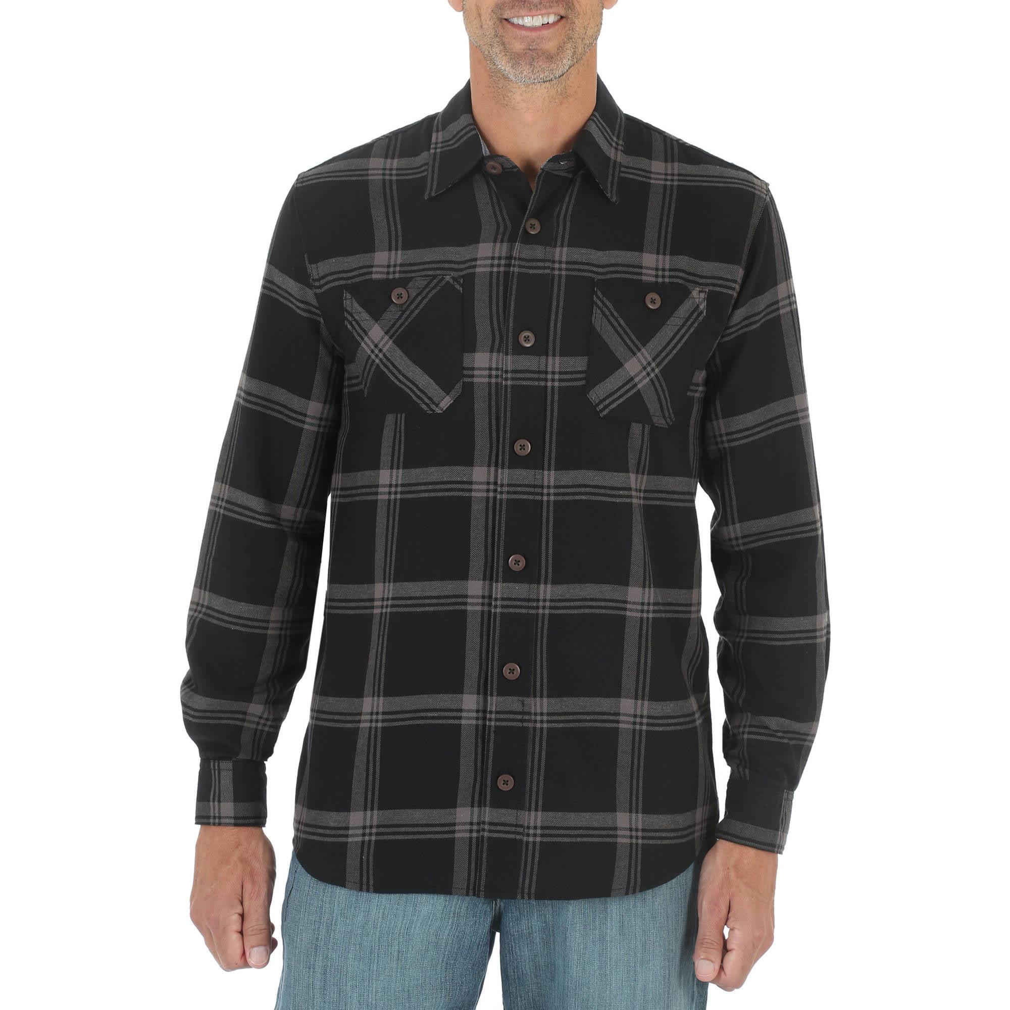 Wrangler Men's Long Sleeve Classic Flannel Shirt