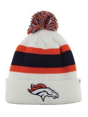 ebf309d1ee3d3 47 Brand Denver Broncos NFL Breakaway Cuff Knit Hat w Pom White. F-
