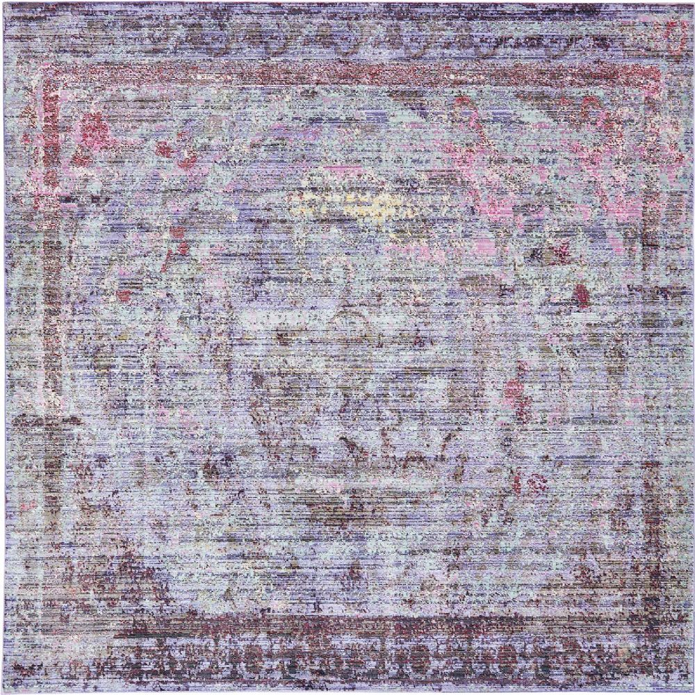 SouthwesternLodge Greta Collection Area Rug in Lilac and Rectangle, Round, Runner, Square Shape