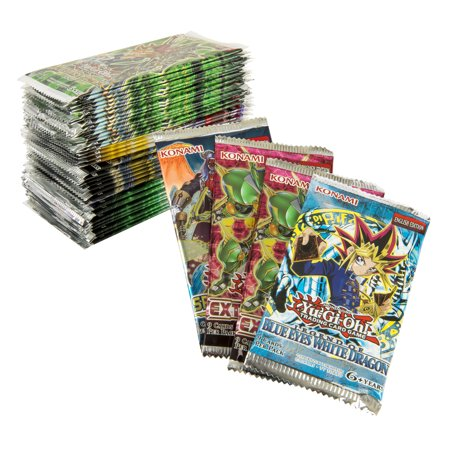 Yugioh Trading Card Game 50 Pack Bundle- includes 1 Blue eyes White Dragon Booster Pack and 2 Extreme force Booster Packs |All Factory