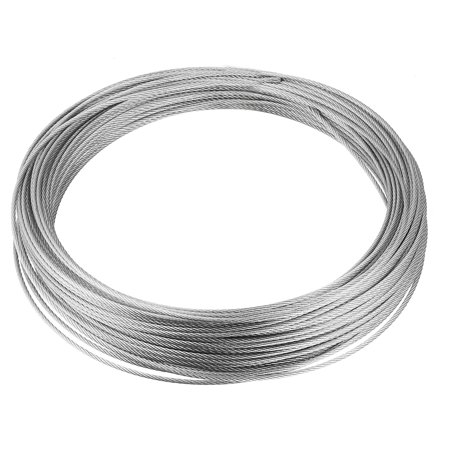 Stainless Steel Wire Rope Cable 1.2mmx25m 18 Ga. Hoist Lift Grinder Pulley