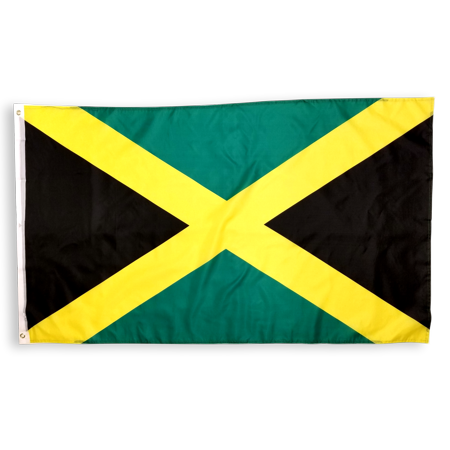 3x5 Foot Jamaica Flag Double Stitched Jamaican Flag with Brass Grommets   3 by 5 Foot Premium Indoor Outdoor Polyester Banner