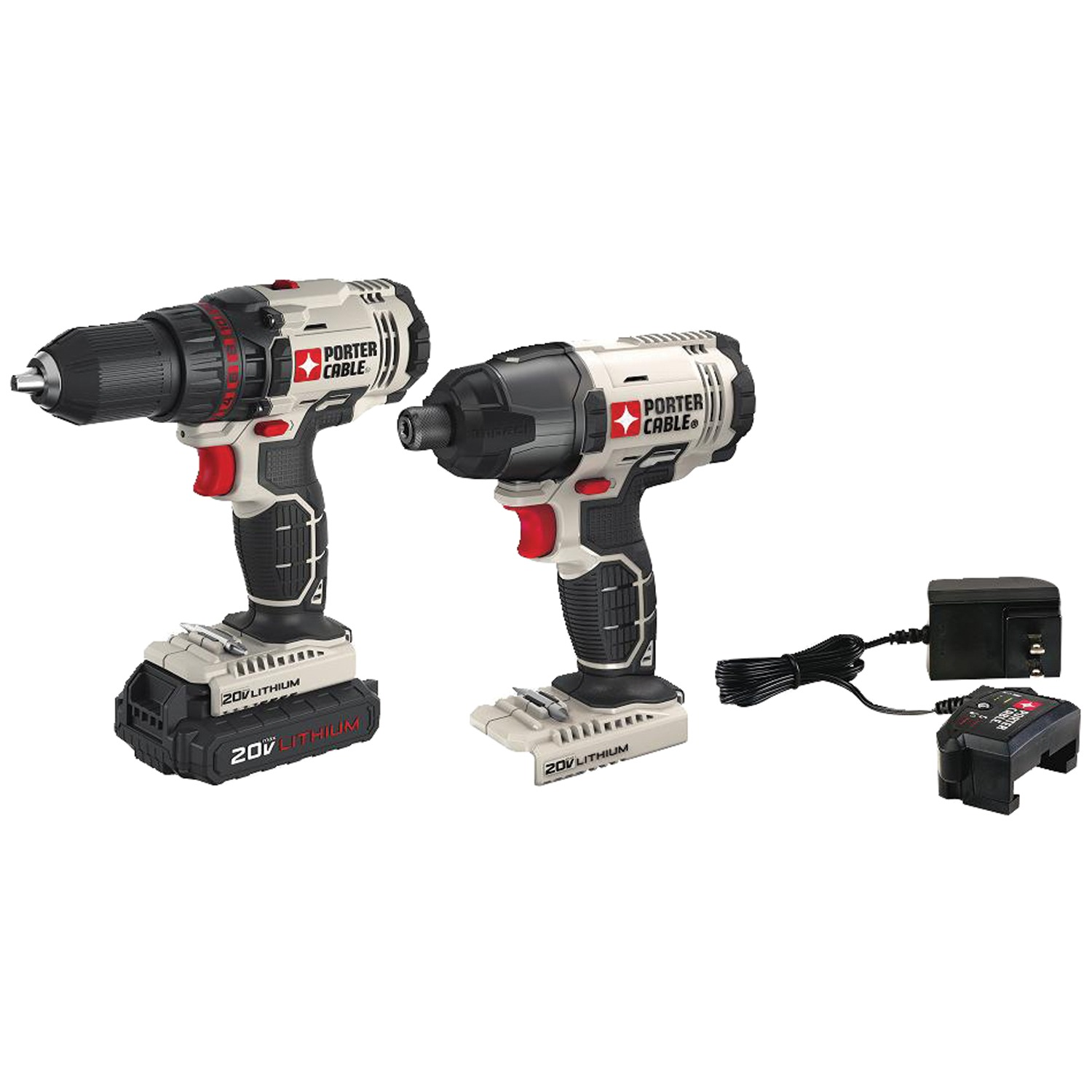 Porter-Cable PCCK604LA 20-Volt Max Cordless 2-Tool Combo Kit With Battery by PORTER-CABLE