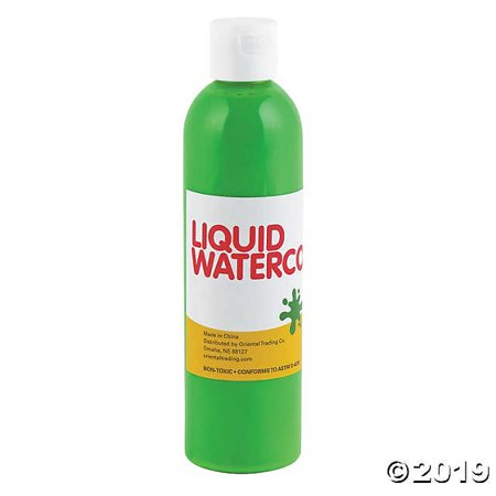 Lime Green Tropical Color Liquid Watercolor Paint