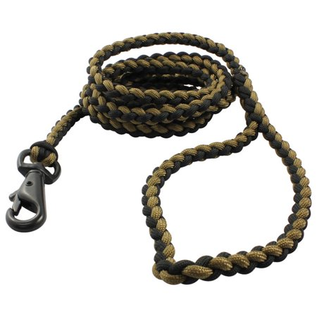 Bison Designs Para Cord for Survival Dog Leash and Collar Combo (Black/Tan, 6 Foot) - Bison](Dig Corp)
