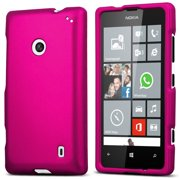 ROSE PINK PROTEX RUBBERIZED HARD SHELL CASE COVER FOR NOKIA LUMIA 520 PHONE