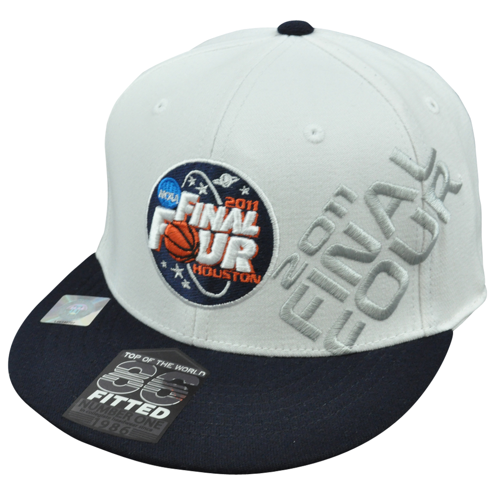 NCAA Top World 86 Fitted 7 1/4 to 7 5/8 Flat 2011 Basketball Final Four Houston