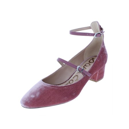 Sam Edelman Womens Lulie Solid Ankle Strap Pumps
