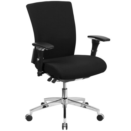 Lancaster Home HERCULES Series 24/7 Intensive Use 300 lb. Rated Multifunction Executive Swivel Chair with Seat Slider ()