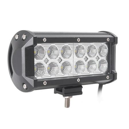 GZYF 36W LED Light Bar 12-LEDs Off Road Flood Beam Light Waterproof Work Lamp Bar for ATV 4x4 Jeep Truck Raptor SUV Pickup