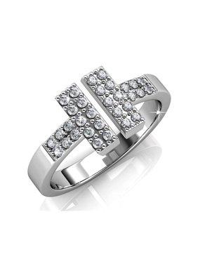 2fa82ad3c Product Image Cate & Chloe Kat Rock Star 18k White Gold Plated Ring with  Swarovski Crystals, Unique