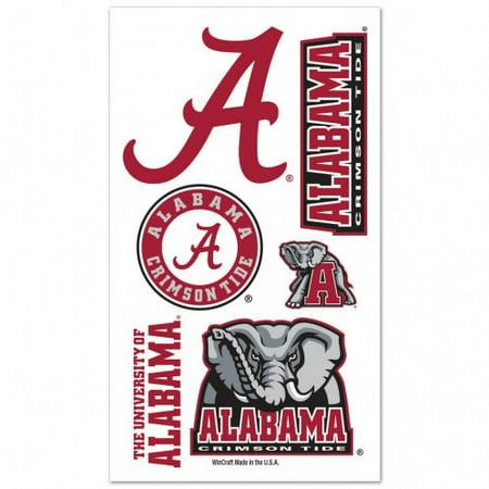 Alabama Crimson Tide Temporary Tattoos - Alabama Crimson Tide Official NCAA 4 inch x 7 inch  Temporary Tattoos by WinCraft