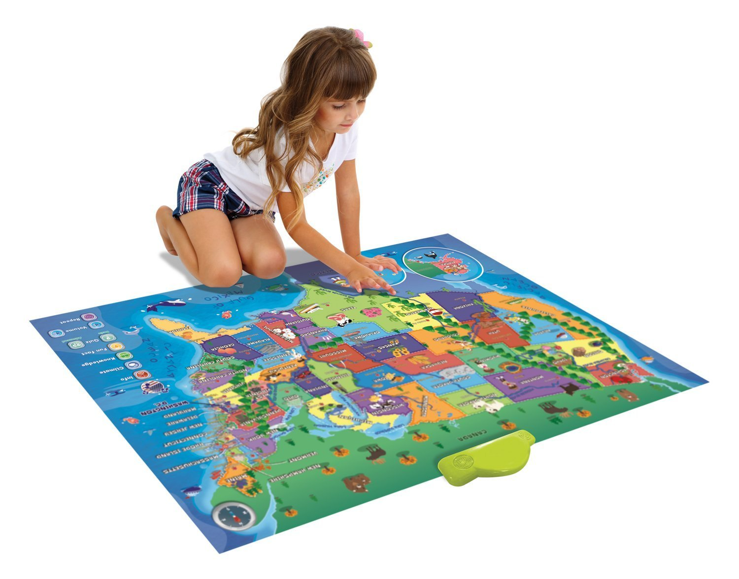 Electronic Kids Map of the United States - 500 Facts and Quizzes ...