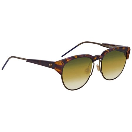 Dior Rectangular Tortoise Sunglasses DIORSPECTRAL 01I/SD 53