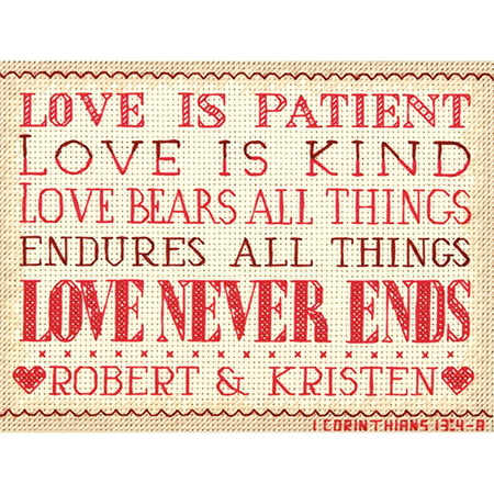 """Dimensions Mini Counted Cross Stitch Kit 7""""X5""""-Love Is Patient (14 Count)"""