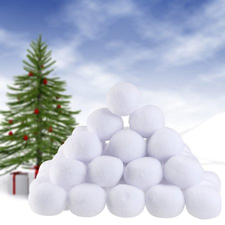 NICEXMAS Snowball Toy Play Christmas Decoration Ornaments Pack of 50 ...