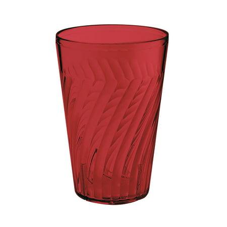Plastic Reusable Tahiti Tumblers 24 oz 4 x 6 Beverage Red SAN/Case of -