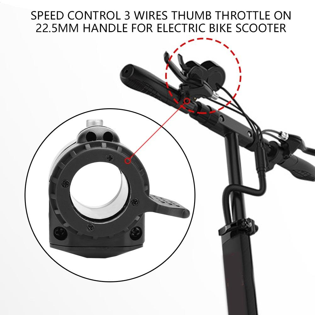 E Bike Thumb Throttle Speed Control 3 Wires On Left Electric Wiring Right Handle For