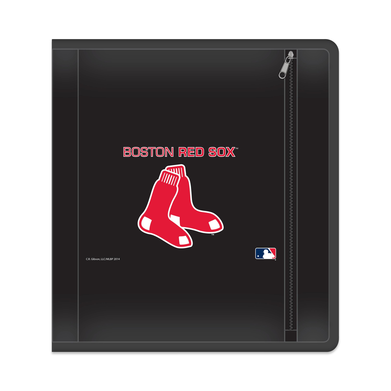 "MLB Boston Red Sox Zippered 3 Ring Binder, 250 Sheet Capacity, 1.625"" Metal Rings"