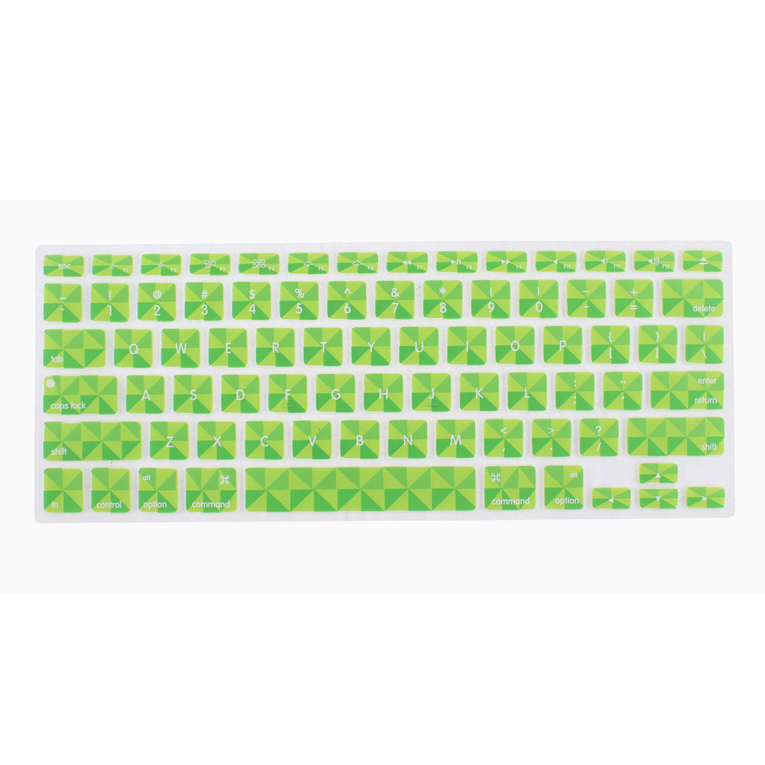Green Silicone Clover Pattern Protective Keyboard Cover for 13 Inch PC Laptop