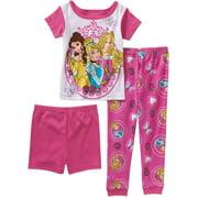 Disney Princess Baby Toddler Girl 3-Piece Pajama Set