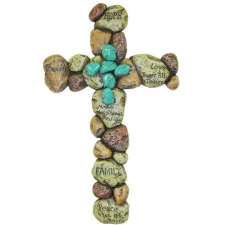 De Leon Collections Pebble Cross Wall Decor](Wall Cross Decor)