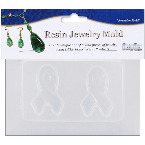 "Resin Jewelry Reusable Plastic Mold, 2 Small Ribbons, 3.5"" x 4.5"""