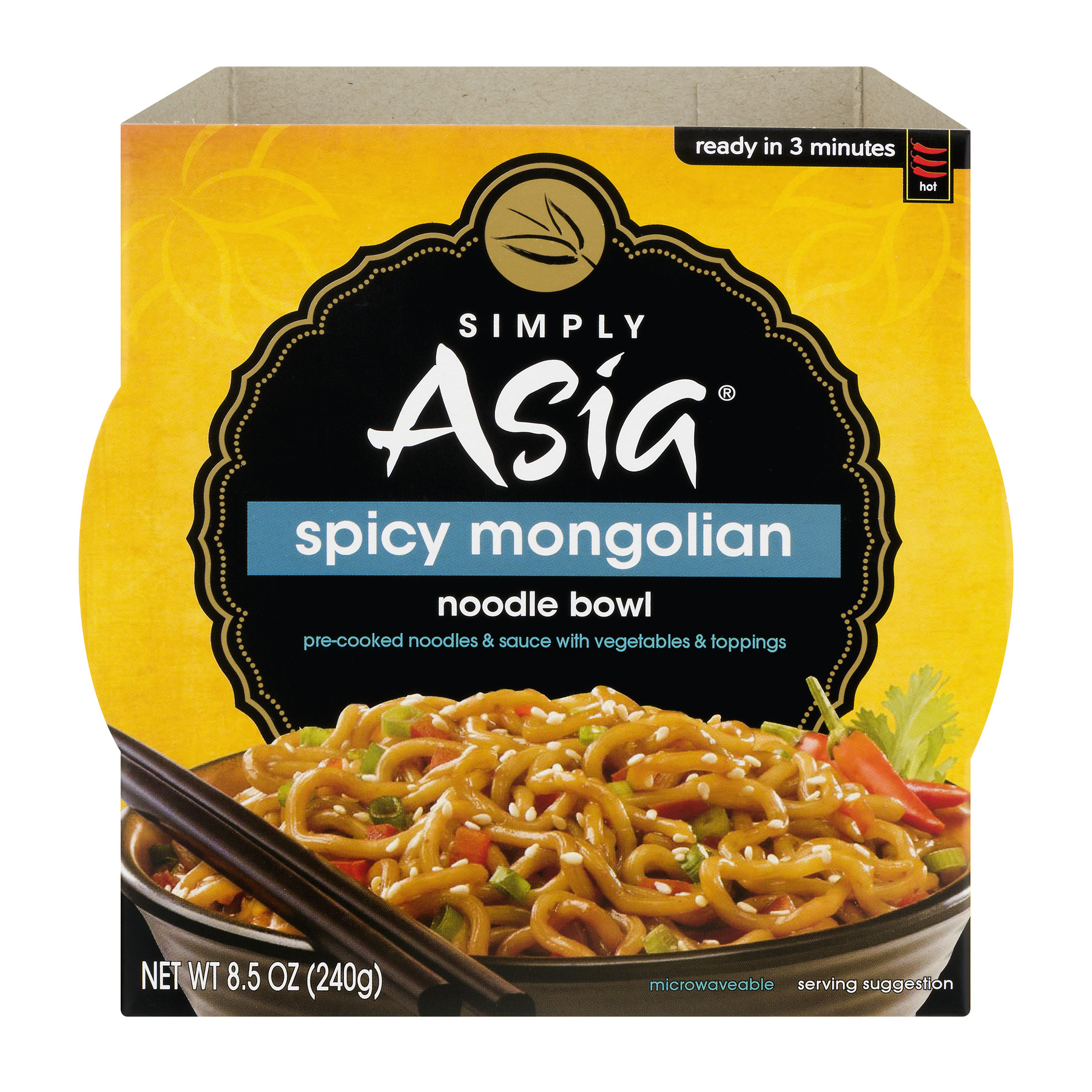 Simply Asia Noodle Bowl Spicy Mongolian, 8.5 OZ