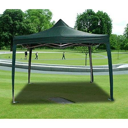 New MTN-G Deluxe Darkgreen EZ Canopy Pop Up Tent 10 X 10' Gazebo &