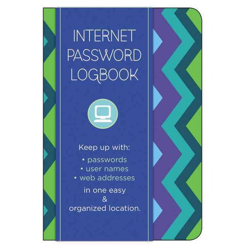 Internet Password Logbook - Pattern: Keep Track Of: Usernames, Passwords, Web Addresses in One Easy & Organized Location
