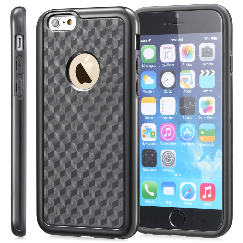 Fosmon DURA-HOLOGRAM Stereoscopic Illusion Dual Layer Bumper Case for Apple iPhone 6 / iPhone 6s (4.7�) (Black)