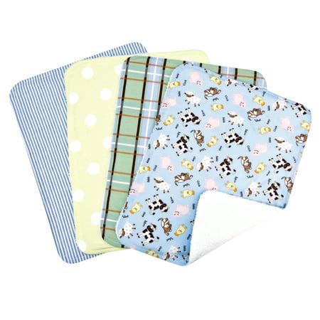 Baby Barnyard 4 Pack Burp Set