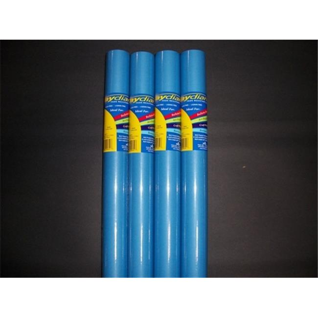 RiteCo Raydiant 80153 Riteco Raydiant Fade Resistant Art Rolls Bright Blue 48 In. X 12 Ft. 4 Pack