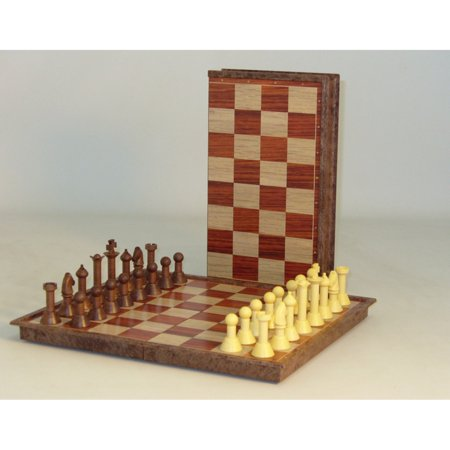 - Classic Game Collection Magnetic Faux Wood Chess Set
