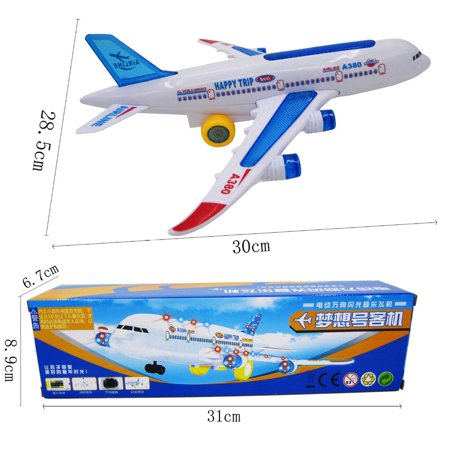 VENSE aircraft carrier in toys Multicolor Flash Plane Toy Sound Aircraft Music Lighting Children Kids Toys - image 4 de 8