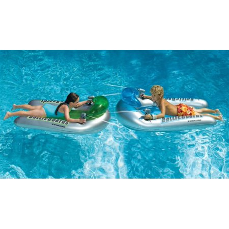 Swimline BattleBoard Squirter Set Inflatable Multi-Player Squirter Game for Swimming Pools