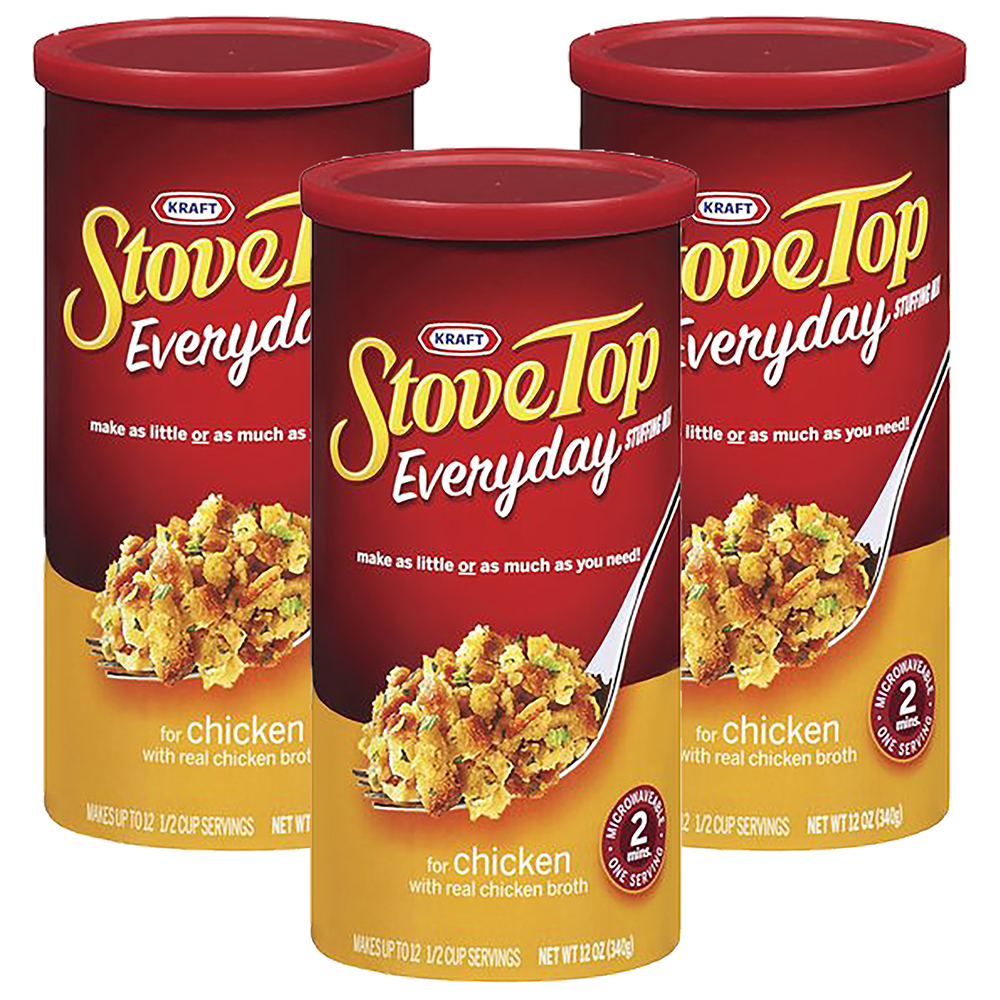 Kraft Stove Top Everyday Chicken Stuffing Mix For Chicken, 12 oz (3 Packs)
