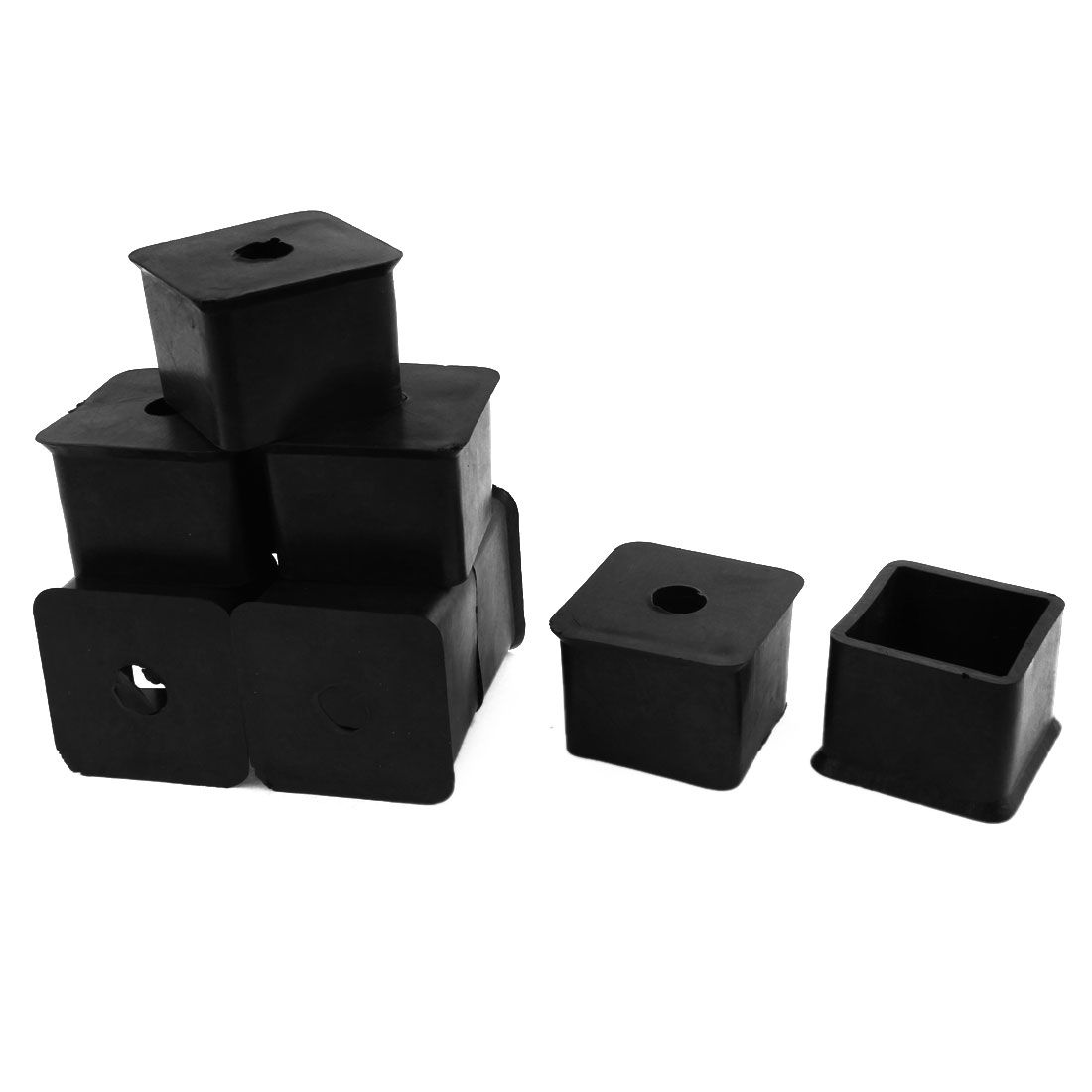 Unique Bargains 35mm X 35mm Square Rubber Chair Table Leg