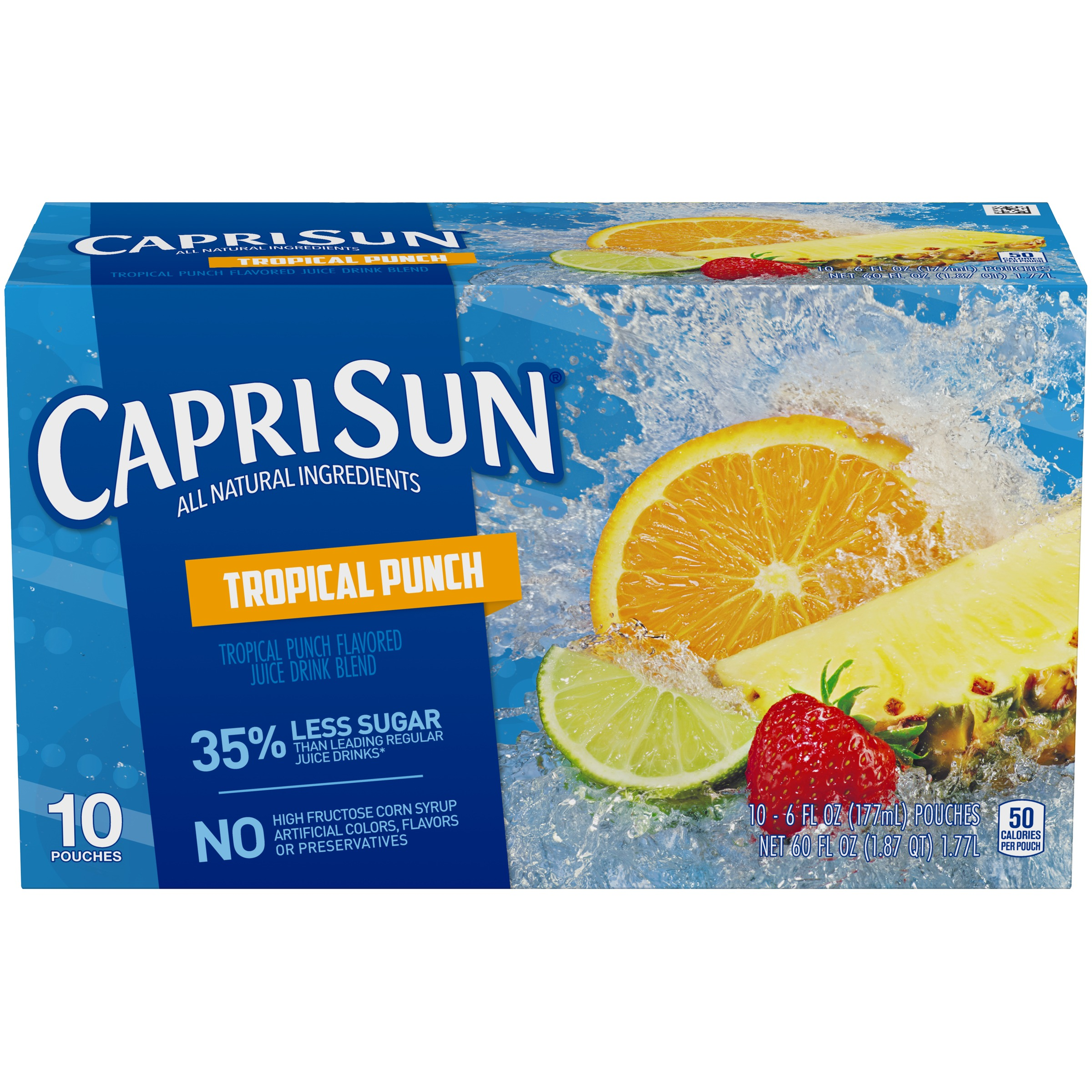 Capri Sun Tropical Punch Ready-to-Drink Soft Drink, 10 - 6 fl oz Pouches