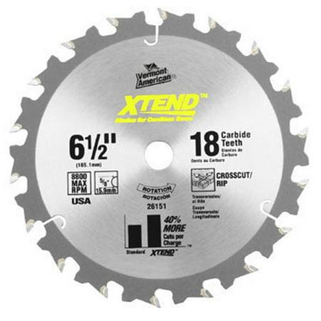 Vermont American 26153 XTEND Carbide Circular Saw Blades