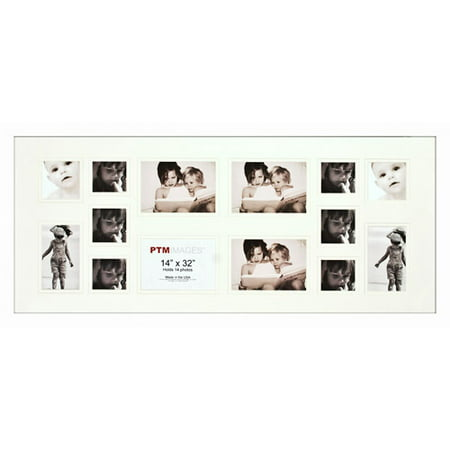 White 14 Opening Collage Frame Set Of 2