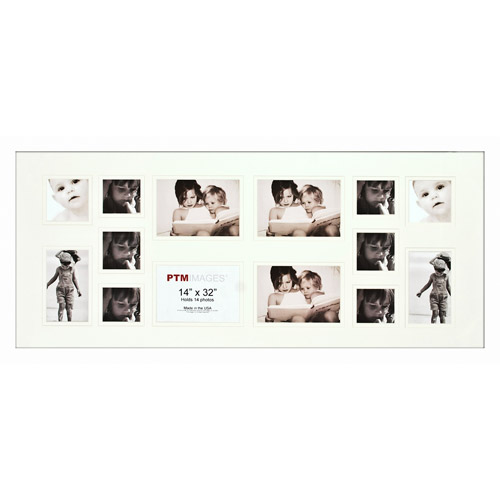 White 14-Opening Collage Frame, Set of 2