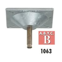 "Attwood 1063 Lock'N-Pin 3/4"" Pin Seat Mount - Cast Aluminum, 3° Tilt, 2-3/4"" SS Pin"