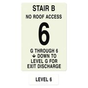 INTERSIGN NFPA-PVC1812(BGN6) NFPASgn,StairIdB,Floors Served G to 6 G0263335